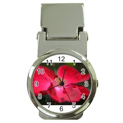 Bright Red Rose Money Clip Watches