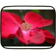 Bright Red Rose Fleece Blanket (mini)