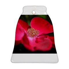 Bright Red Rose Bell Ornament (2 Sides)