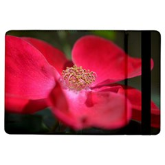 Bright Red Rose Ipad Air Flip