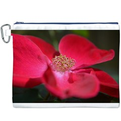 Bright Red Rose Canvas Cosmetic Bag (XXXL)