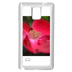 Bright Red Rose Samsung Galaxy Note 4 Case (White)