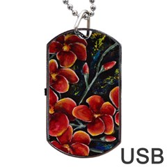 Hawaii is Calling Dog Tag USB Flash (One Side)