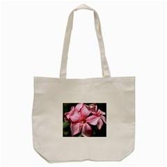 Pink Oleander Tote Bag (Cream)
