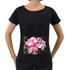 Pink Oleander Women s Loose-Fit T-Shirt (Black)
