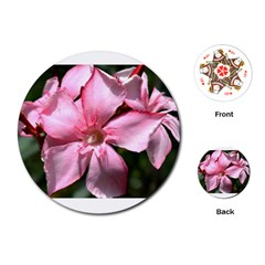 Pink Oleander Playing Cards (round)