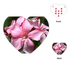 Pink Oleander Playing Cards (Heart)
