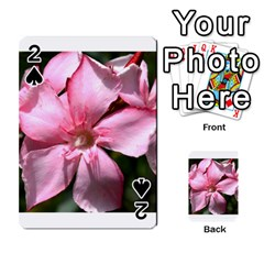 Pink Oleander Playing Cards 54 Designs