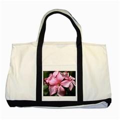 Pink Oleander Two Tone Tote Bag
