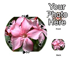 Pink Oleander Playing Cards 54 (round)