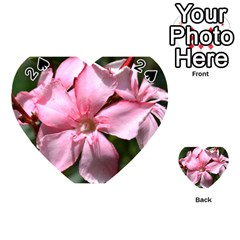 Pink Oleander Playing Cards 54 (Heart)