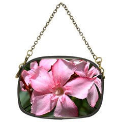 Pink Oleander Chain Purses (two Sides)