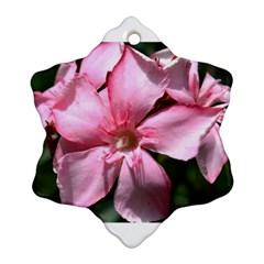Pink Oleander Snowflake Ornament (2-Side)