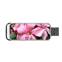 Pink Oleander Portable Usb Flash (one Side)