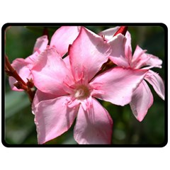 Pink Oleander Double Sided Fleece Blanket (Large)
