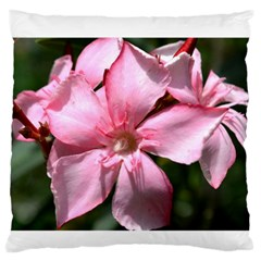 Pink Oleander Large Flano Cushion Cases (One Side)