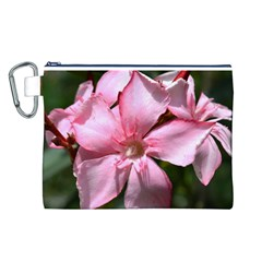 Pink Oleander Canvas Cosmetic Bag (L)