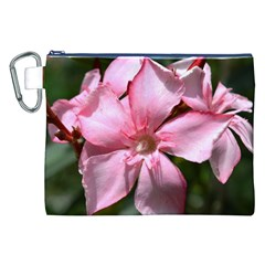 Pink Oleander Canvas Cosmetic Bag (XXL)