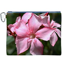 Pink Oleander Canvas Cosmetic Bag (XXXL)