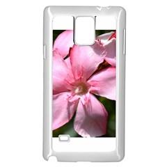 Pink Oleander Samsung Galaxy Note 4 Case (White)