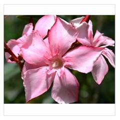 Pink Oleander Large Satin Scarf (Square)
