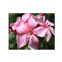 Pink Oleander Small Satin Scarf (Square)