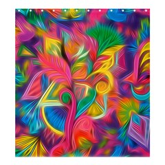 Colorful Floral Abstract Painting Shower Curtain 66  x 72  (Large)