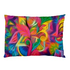 Colorful Floral Abstract Painting Pillow Case (Two Sides)