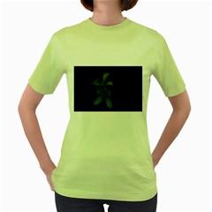 Lemon Blossom Women s Green T-Shirt