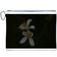 Lemon Blossom Canvas Cosmetic Bag (XXXL)