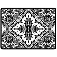 Doodlecross By Kirstenstar D70i5s5 Fleece Blanket (Large)