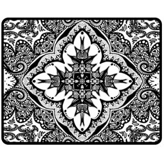 Doodlecross By Kirstenstar D70i5s5 Double Sided Fleece Blanket (Medium)