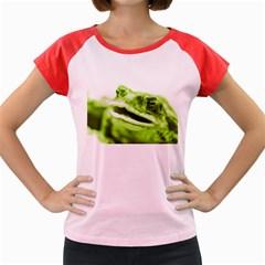 Green Frog Women s Cap Sleeve T-Shirt