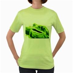 Green Frog Women s Green T-Shirt