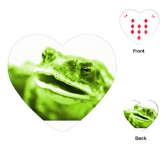 Green Frog Playing Cards (Heart)