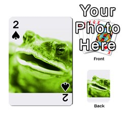 Green Frog Playing Cards 54 Designs