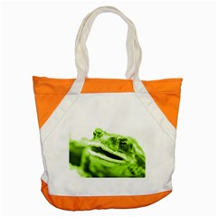 Green Frog Accent Tote Bag
