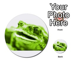 Green Frog Multi-purpose Cards (Round)