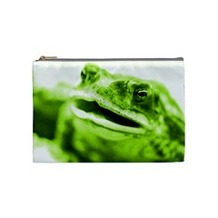 Green Frog Cosmetic Bag (medium)