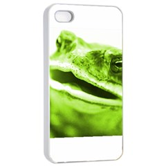 Green Frog Apple iPhone 4/4s Seamless Case (White)