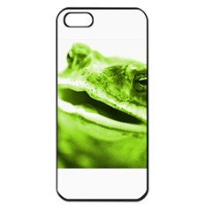 Green Frog Apple Iphone 5 Seamless Case (black)