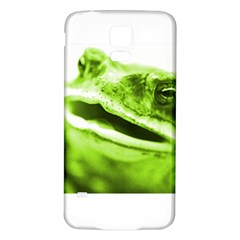 Green Frog Samsung Galaxy S5 Back Case (white)