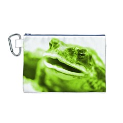 Green Frog Canvas Cosmetic Bag (M)