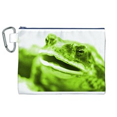 Green Frog Canvas Cosmetic Bag (XL)