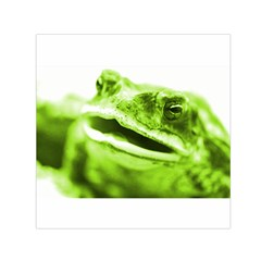 Green Frog Small Satin Scarf (Square)