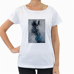 Ghostly Fog Women s Loose-Fit T-Shirt (White)