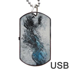Ghostly Fog Dog Tag Usb Flash (one Side)
