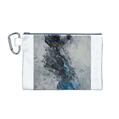 Ghostly Fog Canvas Cosmetic Bag (M)