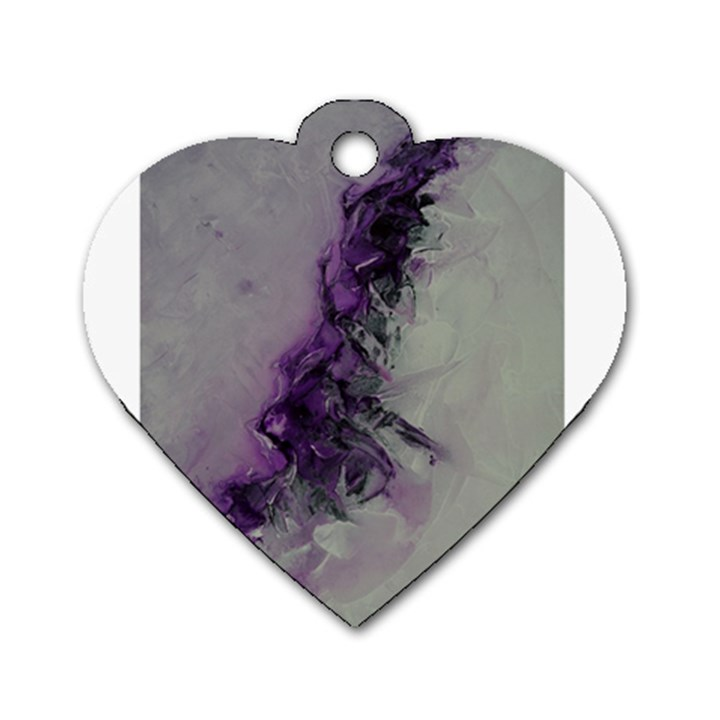 The Power Of Purple Dog Tag Heart (One Side)