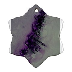 The Power Of Purple Snowflake Ornament (2-Side)